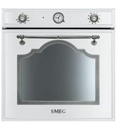 Smeg SF750BS Einbaubackofen, Weiss-Silber Antik, 60 cm, Vapor Clean, Turbo-Heissluft, Energieeffizienzklasse A