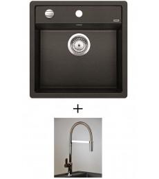 SET - Spüle Blanco Blancodalago 5 mit Armatur Master mit herausziehbarem Auslauf, 7 Farben