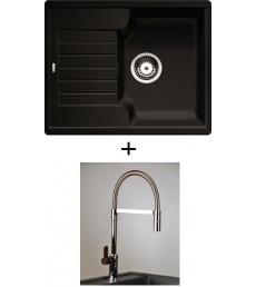 SET - Spüle Blanco Zia 40S mit Armatur Master - mit herausziehbarer Schlauchbrause, 7 Farben