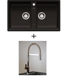 SET - Spüle Blanco Zia 9 mit Armatur Master - mit herausziehbarer Schlauchbrause, 7 Farben
