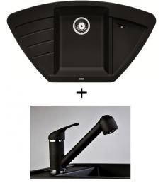 SET - Spüle Blanco Zia 9E mit Armatur Altea - mit herausziehbarer Schlauchbrause , 7 Farben