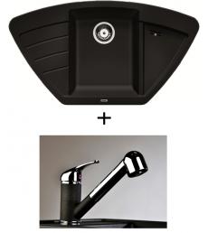 SET - Spüle Blanco Zia 9E mit Armatur Altea CR - mit herausziehbarer Schlauchbrause, 7 Farben