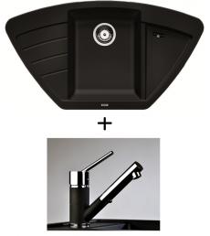 SET - Spüle Blanco Zia 9E mit Armatur Bruno - mit herausziehbarer Schlauchbrause, 7 Farben