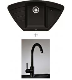 SET - Spüle Blanco Zia 9E mit Armatur Furio, 7 Farben