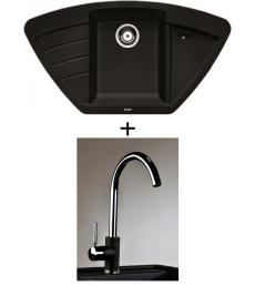 SET - Spüle Blanco Zia 9E mit Armatur Infinity, 7 Farben