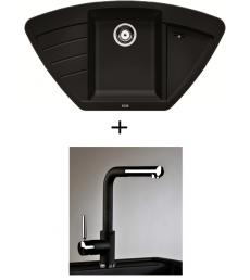 SET - Spüle Blanco Zia 9E mit Armatur Alano CR - mit herausziehbarer Schlauchbrause, 7 Farben