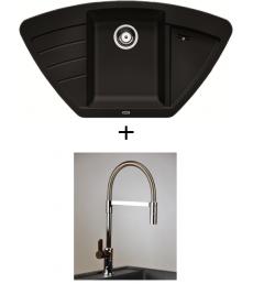 SET - Spüle Blanco Zia 9E mit Armatur Master - mit herausziehbarer Schlauchbrause, 7 Farben